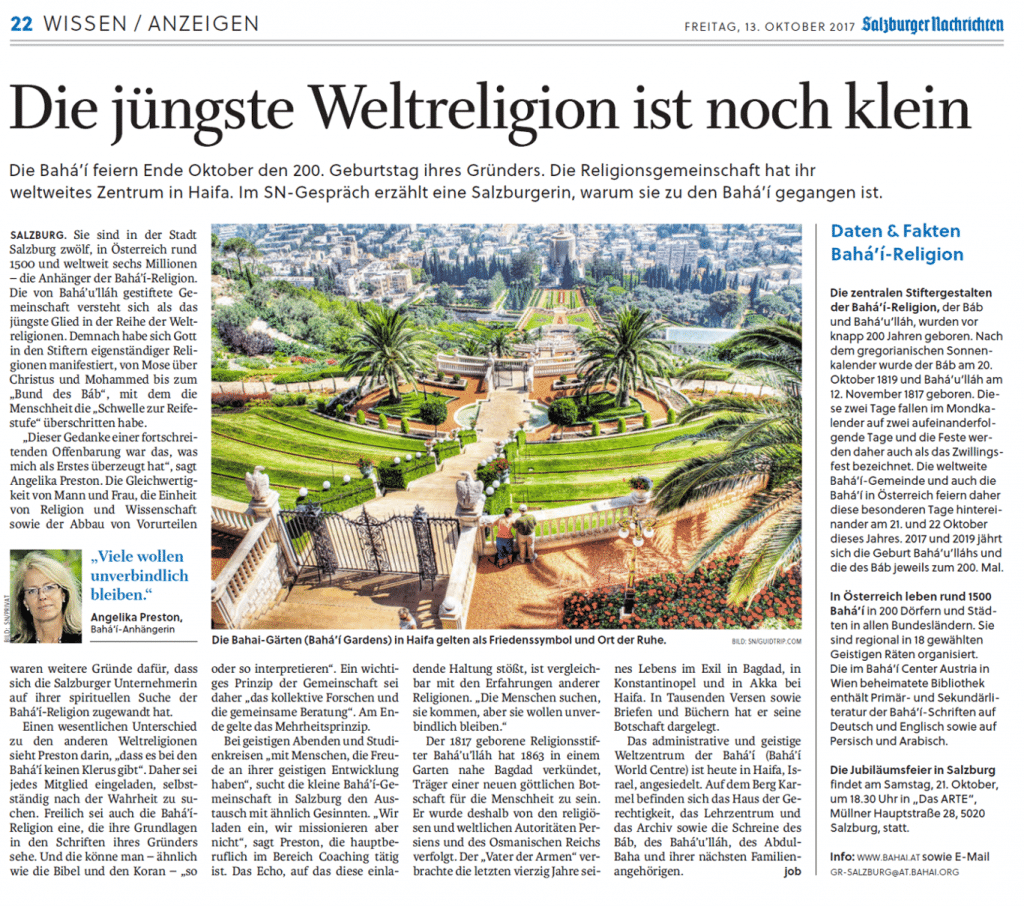 Artikel vom 12.10.2017 (Salzburger Nachrichten)