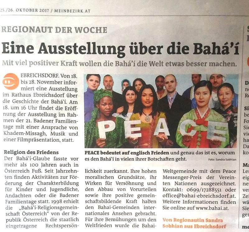 Artikel vom 25.10.2017 (Ebreichsdorf)